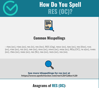 Correct spelling for RES (OC)