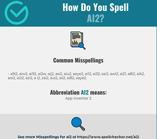 Correct spelling for AI2