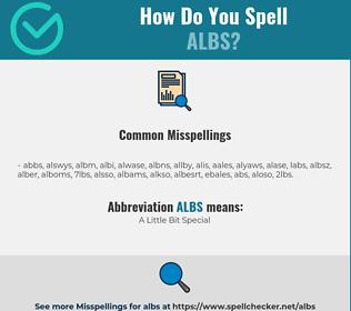 Correct spelling for ALBS