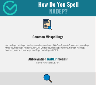 Correct spelling for NADEP