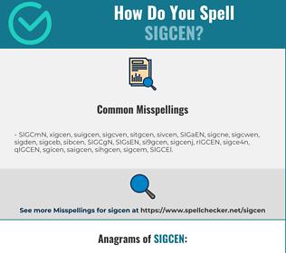 Correct spelling for SIGCEN
