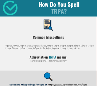 Correct spelling for TRPA