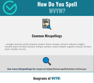 Correct spelling for WVYW
