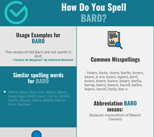 Correct spelling for BARO
