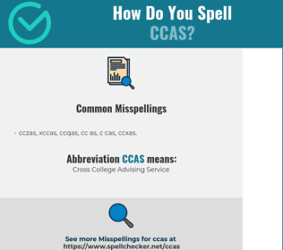 Correct spelling for CCAS