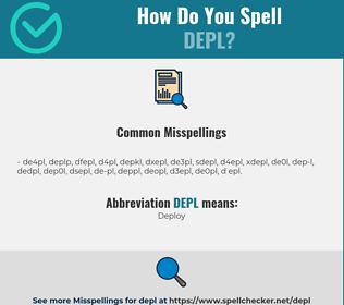 Correct spelling for DEPL