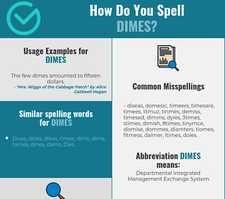 Correct spelling for DIMES