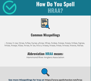 Correct spelling for HRAA