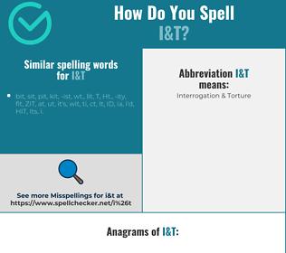 Correct spelling for I&T