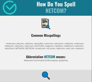 Correct spelling for NETCOM