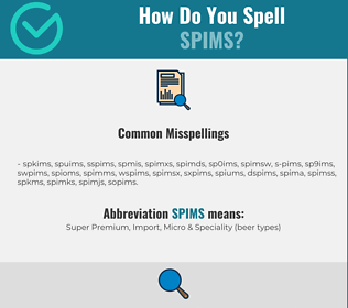 Correct spelling for SPIMS