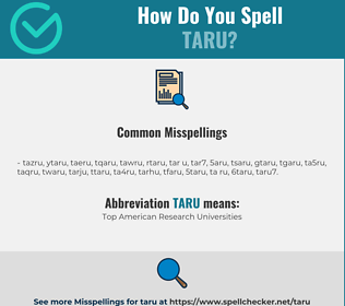 Correct spelling for TARU