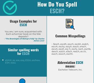 Correct spelling for ESCH