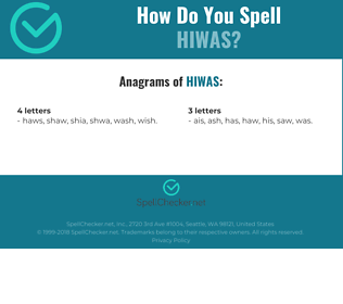 Correct spelling for HIWAS