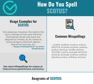 Correct spelling for SCOTUS