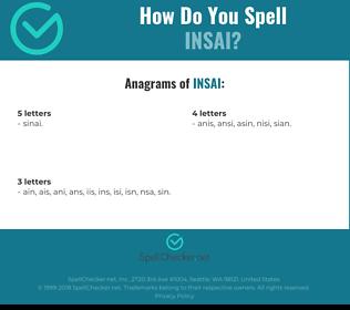 Correct spelling for INSAI