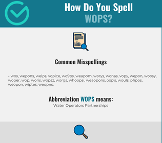 Correct spelling for WOPS