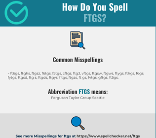 Correct spelling for ftgs