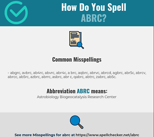 Correct spelling for ABRC