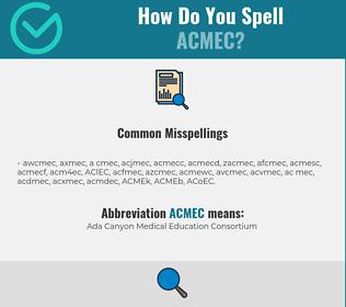 Correct spelling for ACMEC