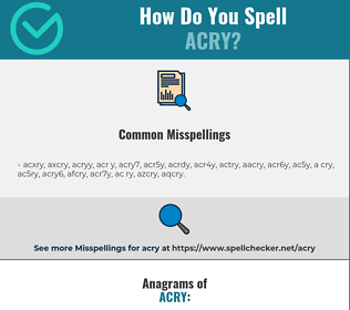 Correct spelling for ACRY