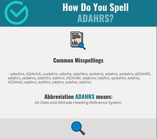 Correct spelling for ADAHRS