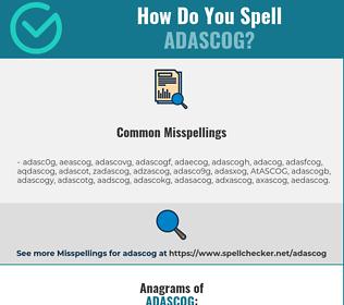 Correct spelling for ADASCOG