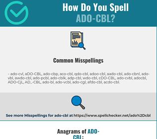 Correct spelling for ADO-CBL