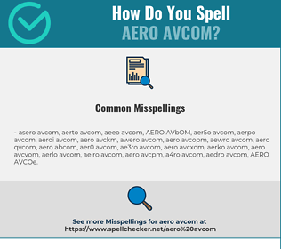 Correct spelling for AERO AVCOM