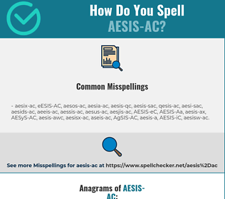 Correct spelling for AESIS-AC