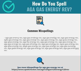 Correct spelling for AGA GAS ENERGY REV