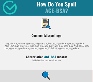 Correct spelling for AGE-BSA