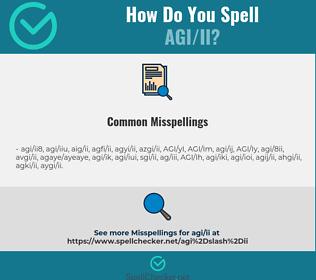 Correct spelling for AGI/II