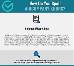 Correct spelling for AIRCOMPANY KHORS