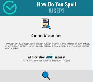 Correct spelling for AISEP