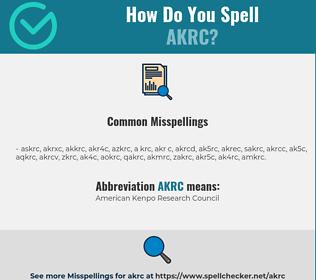 Correct spelling for AKRC