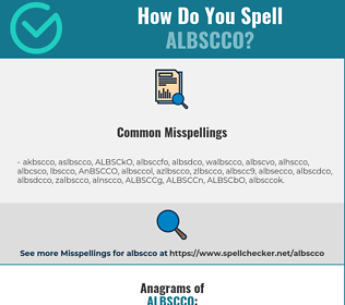 Correct spelling for ALBSCCO