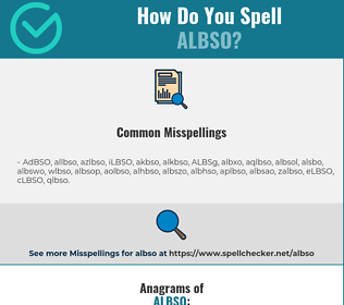 Correct spelling for ALBSO
