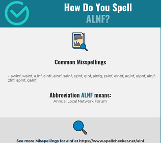 Correct spelling for ALNF