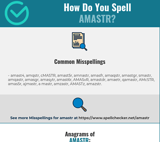 Correct spelling for AMASTR