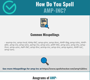 Correct spelling for AMP-INC
