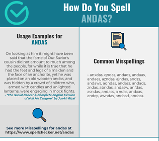 Correct spelling for ANDAS
