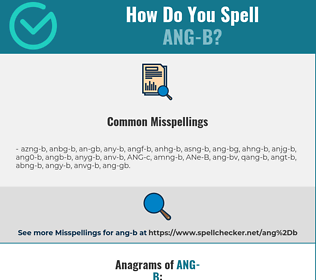 Correct spelling for ANG-B