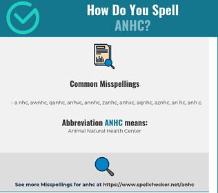 Correct spelling for ANHC