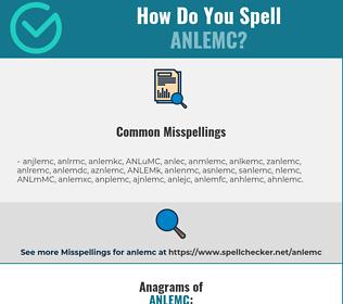 Correct spelling for ANLEMC