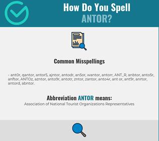 Correct spelling for ANTOR