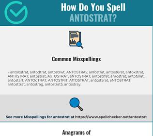 Correct spelling for ANTOSTRAT