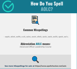 Correct spelling for AOLC