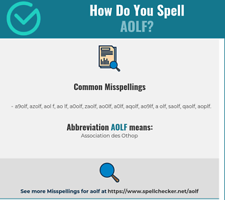 Correct spelling for AOLF