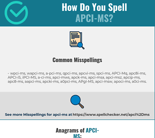 Correct spelling for APCI-MS